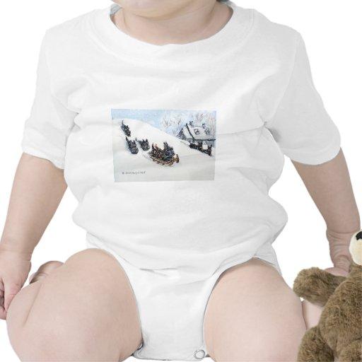 Scottish Terriers Sledding Bodysuit