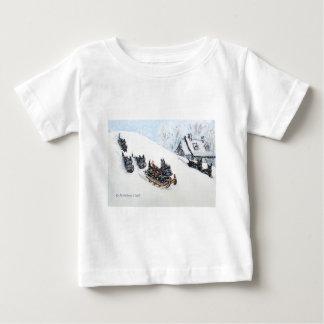 Scottish Terriers Sledding Tshirts