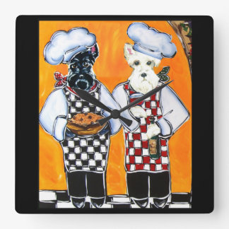 Scottish Terriers Square Wall Clock