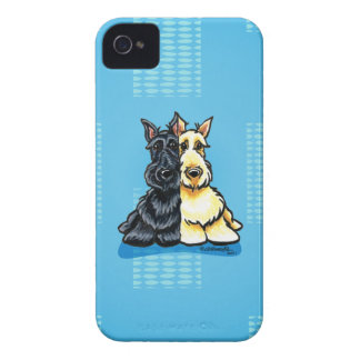 Scottish Terriers Two of a Kind iPhone 4 Case-Mate Case