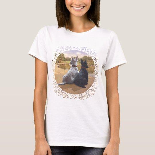 Scottish Terriers Watching Boats T-Shirt