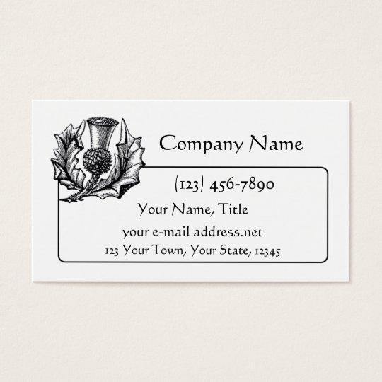 Scottish Thistle 2 Business Card