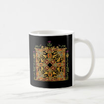 Scottish thistle and Crown Red & Gold Celtic Knot Coffee Mug