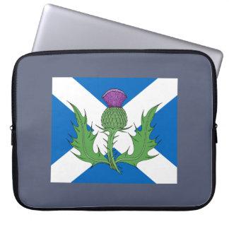 Scottish Thistle and Saltire Laptop Sleeve