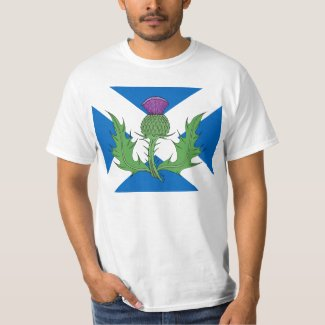 Scottish Thistle and Saltire T-Shirt