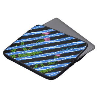 Scottish thistle computer sleeve