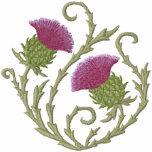 Scottish Thistle Embroidered Hooded Sweatshirts