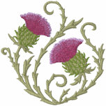 Scottish Thistle Embroidered Hoody