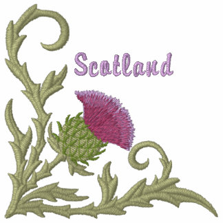 Scottish Thistle Embroidered Hoodies