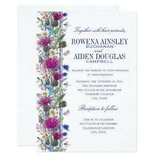 Scottish Thistle Floral Wedding Invitation