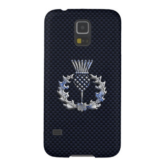 Scottish Thistle in Chrome Style Galaxy S5 Cover