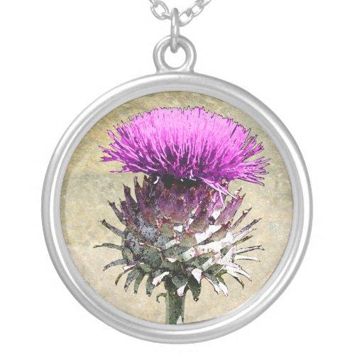 Scottish Thistle Pendant