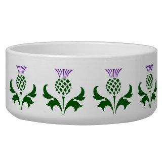 Scottish Thistle Pet Bowl
