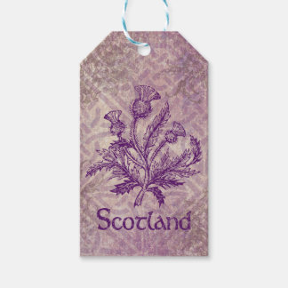 Scottish Thistle Purple Celtic Knot Gift Tags