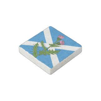 Scottish thistle stone magnet