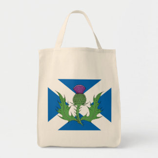 Scottish Thistle Tote Grocery Tote Bag