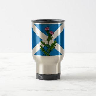 Scottish thistle travel mug