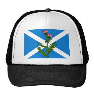 Scottish thistle trucker hat