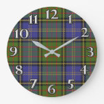 Scottish Time Accents Clan MacMillan Tartan Large Clock