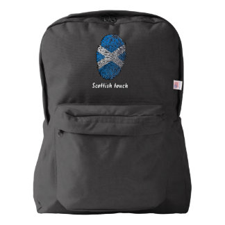 Scottish touch fingerprint flag american apparel™ backpack