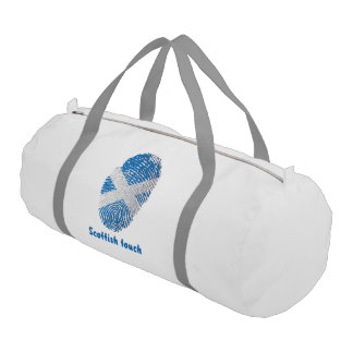 Scottish touch fingerprint flag gym bag