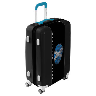 Scottish touch fingerprint flag luggage