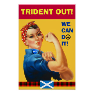 Scottish Trident Out William Wallace Tartan Poster