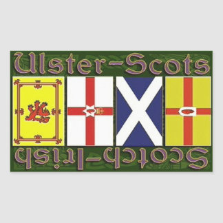 Scottish & Ulster flags Rectangular Sticker