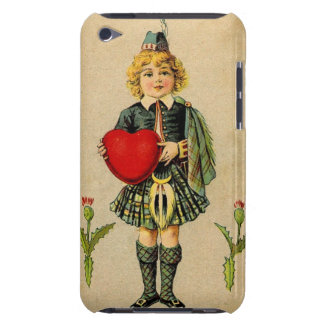 Scottish vintage Valentine and red heart Barely There iPod Case