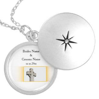 Scottish-Wedding-Celtic-Cross Locket Necklace