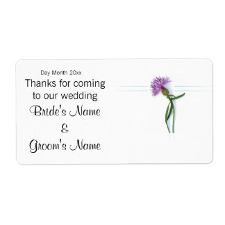 Scottish Wedding Souvenirs, Gifts, Giveaways Label
