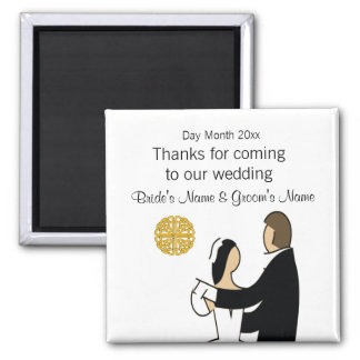 Scottish Wedding Souvenirs, Gifts, Giveaways Magnet
