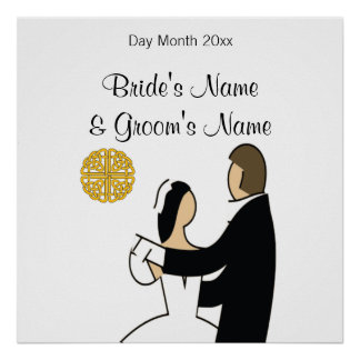 Scottish Wedding Souvenirs, Gifts, Giveaways Poster