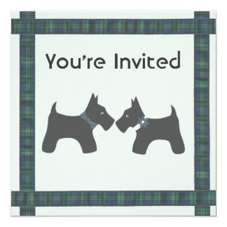 Scottish Wedding with Tartan Theme Invitation