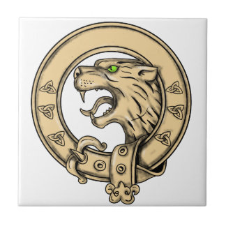 Scottish Wildcat Belt Tattoo Ceramic Tile