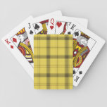 "Scottish Yellow Tartan Playing Cards<br><div class=""desc"">Scottish tartan plaid yellow,  green and brown texture pattern.</div>"