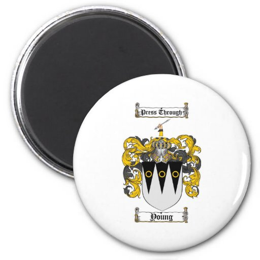Scottish Young Coat of Arms Stein - Family Crest 2 Inch Round Magnet