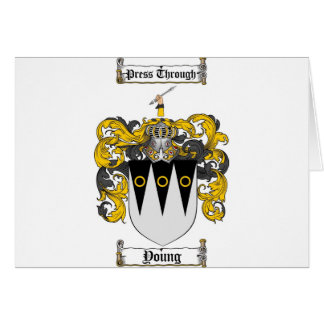 Scottish Young Coat of Arms Stein - Family Crest Card