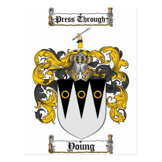 Scottish Young Coat of Arms Stein - Family Crest Postcard