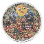 ScottishTerrier Halloween Picnic Melamine Plate