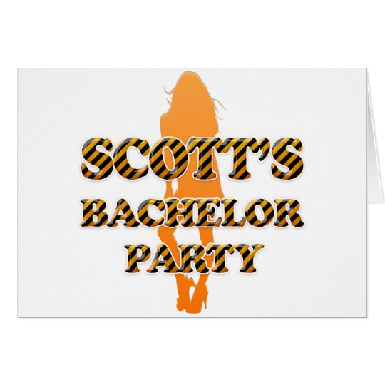 Scott's Bachelor Party Card