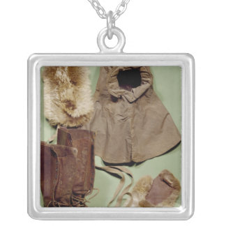 Scott's clothing used on the Antarctic Silver Plated Necklace