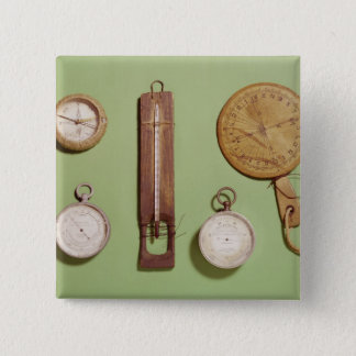 Scott's compass, thermometer, sundial, pinback button