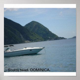 scotts head dominica. poster