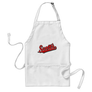 Scott's in Red Adult Apron