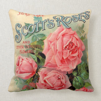 Scotts Roses Advertisement Throw Pillow