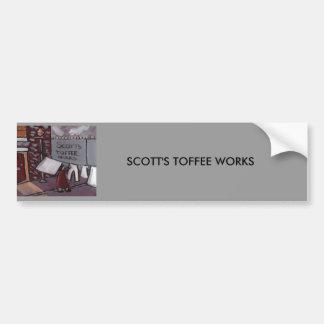 SCOTTS TOFFEE WORKS CAR BUMPER STICKER