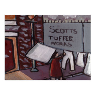 SCOTTS TOFFEE WORKS POSTCARD