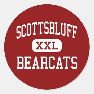 Scottsbluff - binturong - alto - Scottsbluff Pegatina Redonda