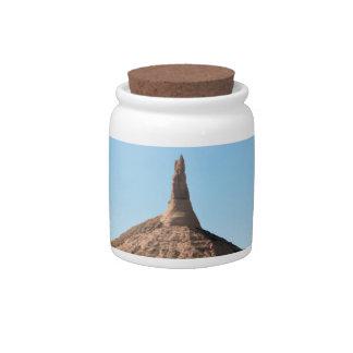 Scottsbluff Nebraska Chimney Rock Spire Candy Dishes